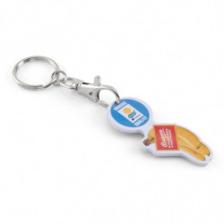 ALUMINIUM TOKEN KEY RING