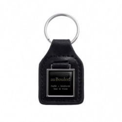 PU LEATHER KEY RING SQUARE...