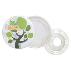 BIODEGRADABLE BUTTON BADGE...