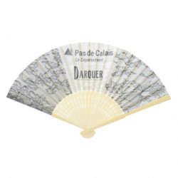 BAMBOO AND FABRIC FAN