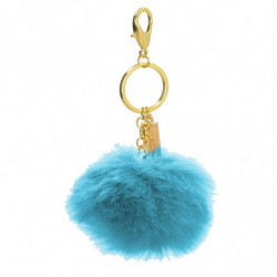 POMPON KEYCHAIN WITH...